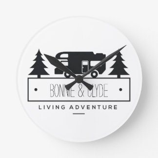 Retired RV | Camping Campers Personalized Names Clocks