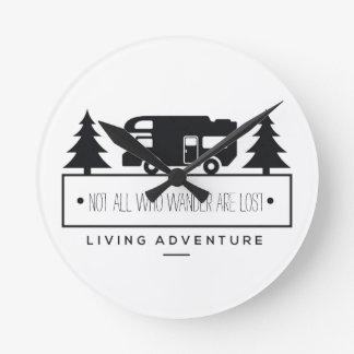 Retired RV | Travel Quote Not All Who Wander Wallclocks
