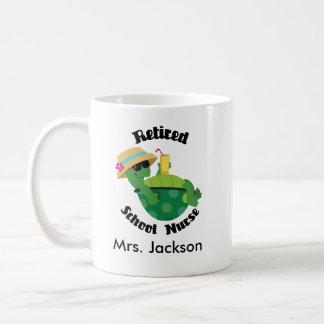 Retired School Nurse Personalized Mug