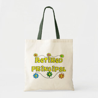 Retired School Principal Gifts Budget Tote Bag