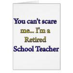 Retired School Teacher Card