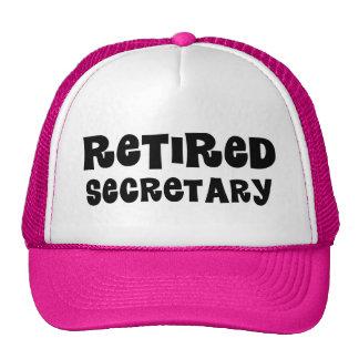 Retired Secretary Gift Mesh Hats
