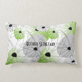 Retired Secretary Nap Pillow Artsy Floral Design