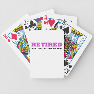 Retired See You at the Beach Bicycle Playing Cards