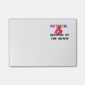 Retired - See You at the Beach, Pink Flip Flops Post-it® Notes