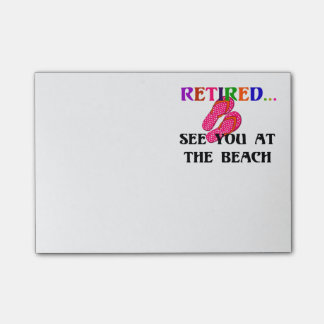 Retired: See You at the Beach, Pink Flip Flops Post-it® Notes