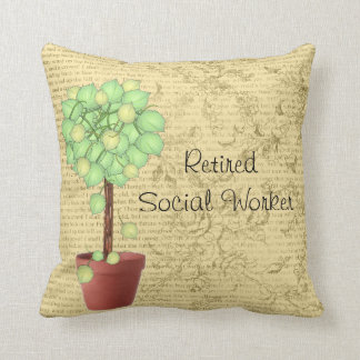 Retired Social Worker Pillow