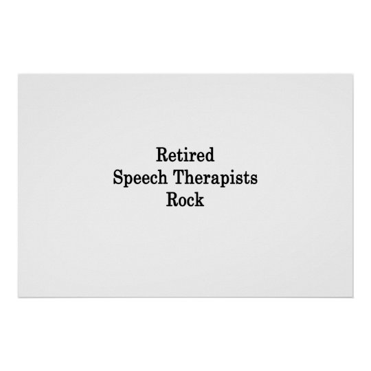 Retired Speech Therapists Rock Poster