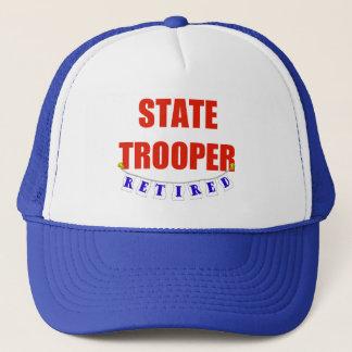 RETIRED STATE TROOPER TRUCKER HAT