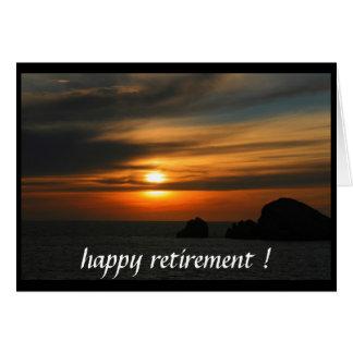 retired sunset card