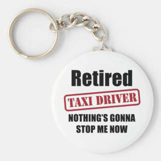 Retired Taxi Driver Basic Round Button Keychain