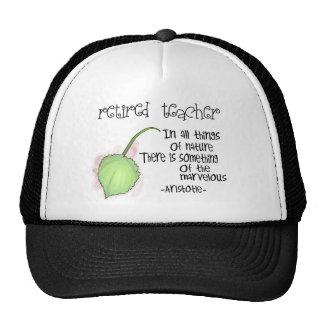 Retired Teacher Aristotle Quote Design Gifts Trucker Hat