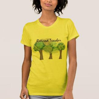 Retired Teacher Artsy Trees Design Gifts T-Shirt