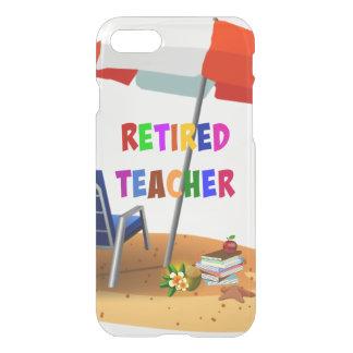 Retired Teacher, Beach Scene (revised) iPhone 7 Case