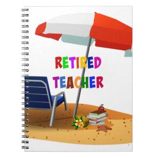 Retired Teacher, Beach Scene (revised) Notebooks