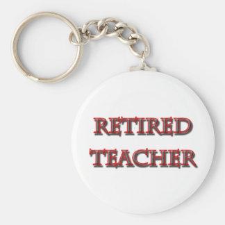 retired teacher copy keychain