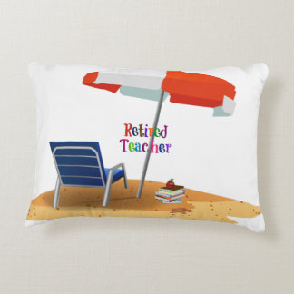 Retired Teacher Decorative Pillow