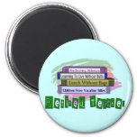 Retired Teacher (Funny Stack of Books Design) Refrigerator Magnets