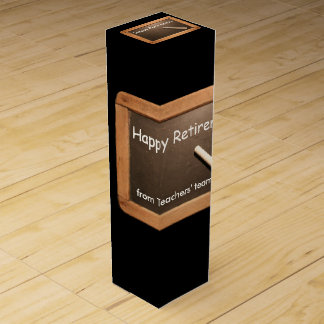 Retired Teacher - Happy Retirement Wine gift Box