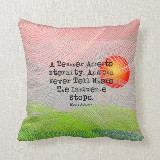 Retired Teacher Modern Art Pillow #38