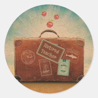 Retired Teacher, More Time to Travel Round Sticker
