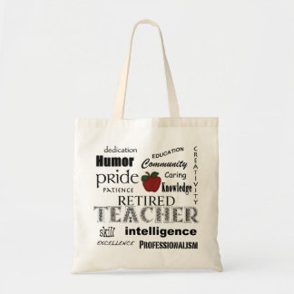 Retired Teacher Pride-Red Apple+Customizable