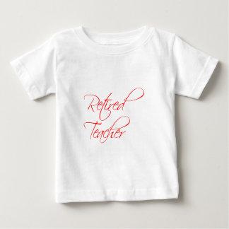 retired-teacher-scriptina-red.png baby T-Shirt