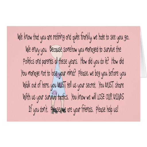 "Retired Teacher Story Art~~ ""Please Help Us"" Greeting Cards"