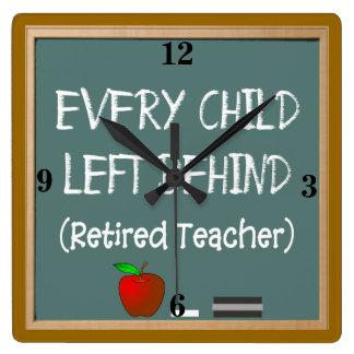 Retired Teacher Wall Clock