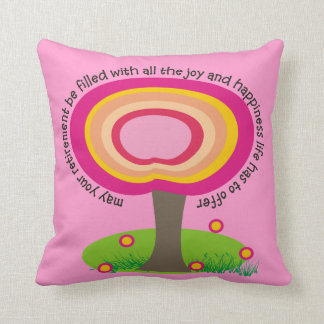 Retired Teacher Whimsical Art Pillow