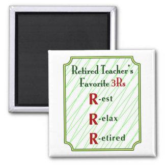 Retired Teachers Magnet: 3Rs - Magnet