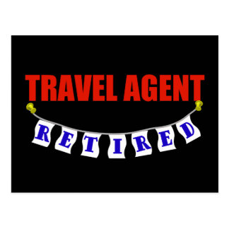 Retired Travel Agent Postcard