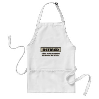 RETIRED. Under New Management Adult Apron