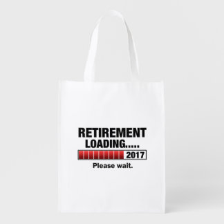 Retirement 2017 Loading Reusable Grocery Bag