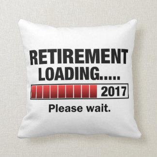 Retirement 2017 Loading Throw Pillow