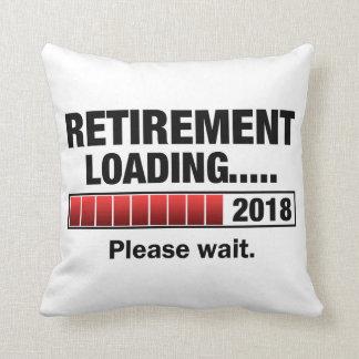 Retirement 2018 Loading Throw Pillow