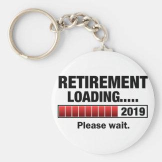 Retirement 2019 Loading Basic Round Button Keychain