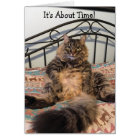 Retirement About Time Kimber Cat Card