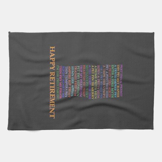 Retirement Anagram towel