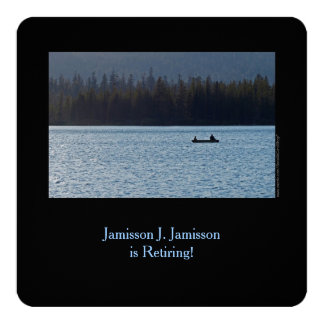 Retirement Announcement, Fisherman and Son on Lake