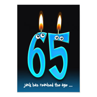 Retirement at 65 Party with eyeballs Card