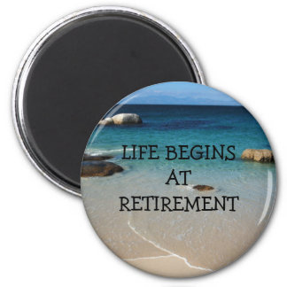 RETIREMENT: Beach Shore retirement magnet