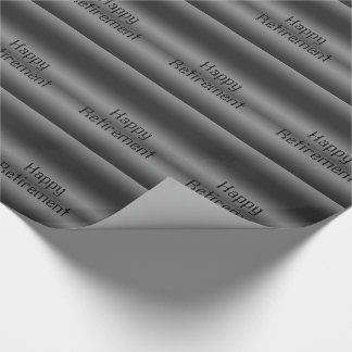 Retirement, black and silver , gift wrap. wrapping paper