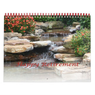 Retirement Calendar 2016 Garden Waterfall Cascade