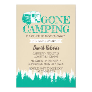 Retirement Camping Trailer Happy Camper Card