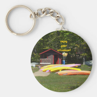 Retirement Canoes Keychain