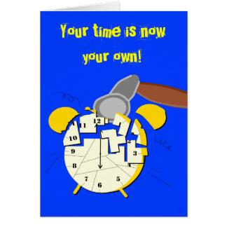 retirement clock, card