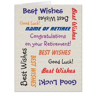 Retirement Congratulations from All JUMBO Burlap Big Greeting Card