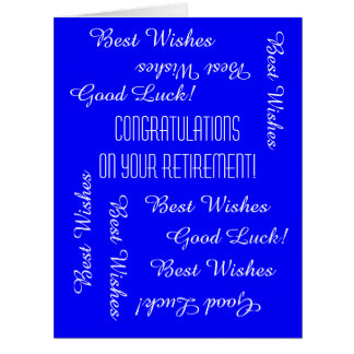 Retirement Congratulations from All of Us, JUMBO Big Greeting Card