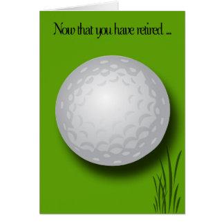 Retirement Congratulations-Golf Ball Card